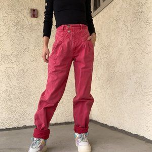 Vintage Rocky Moutain Pastel Red Jeans